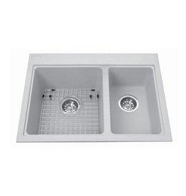 Kindred Kindred KGDC2027R/8 27 x 20 Combination Granit Sink Storm