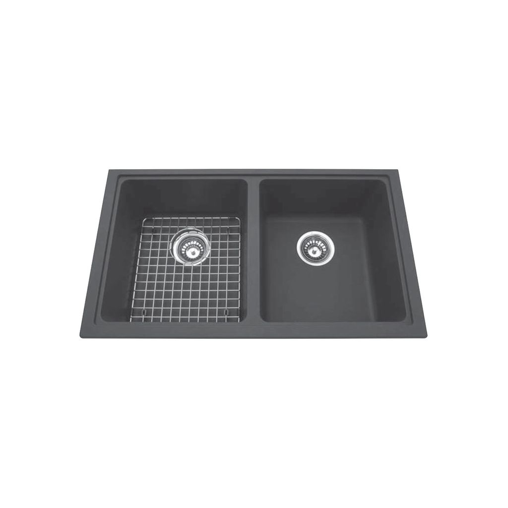 Charmant Kindred Kindred KGD1U/8 31 X 18 Granite Undermount Double Sink Shadow Grey  ...