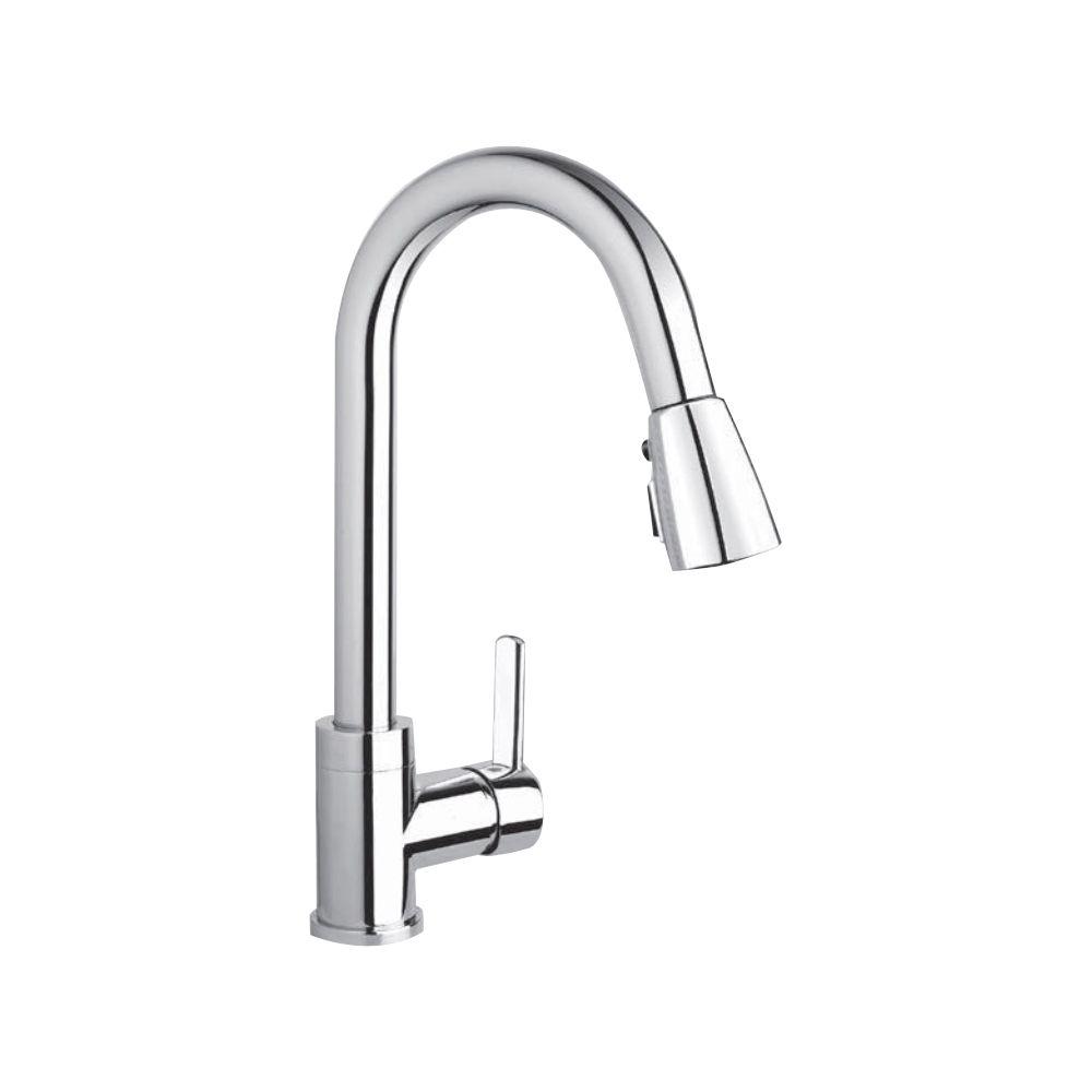 Kindred KFPD2100 Gooseneck Pull Down Spray Faucet Chrome - Home ...