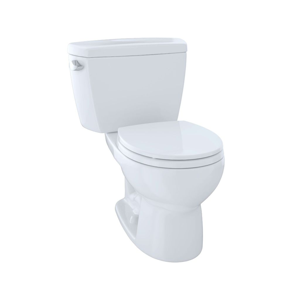 TOTO CST743S Drake Two Piece Round Toilet Right Lever Cotton - Home ...