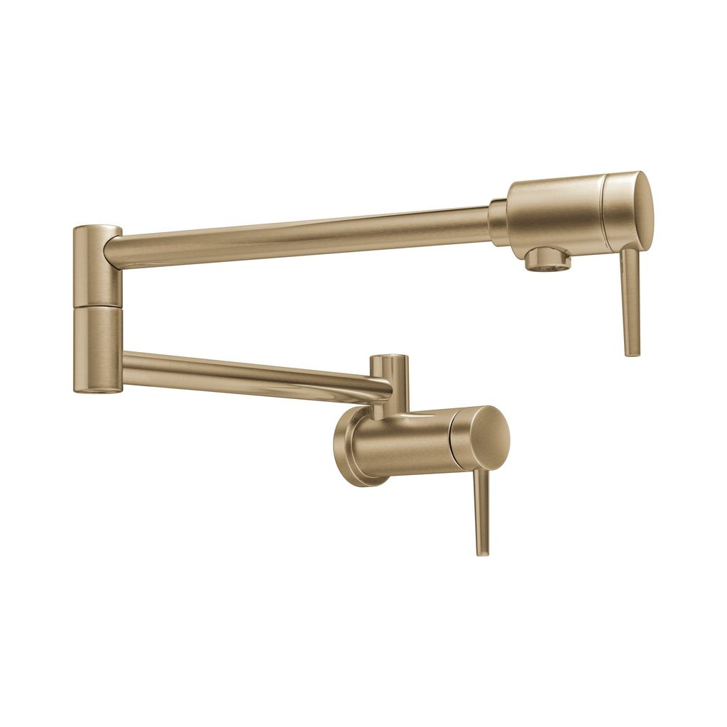Delta 1165lf Contemporary Wall Mount Pot Filler Champagne