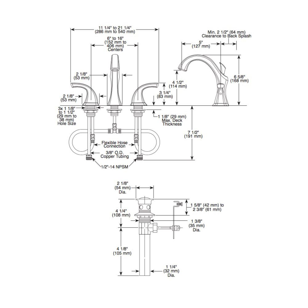 Delta 3592lf Addison Two Handle Widespread Lavatory Faucet