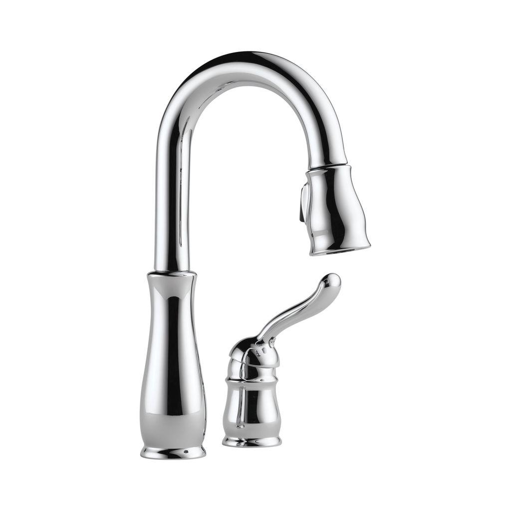 Delta Leland Chrome  Handle Pull Down Kitchen Faucet