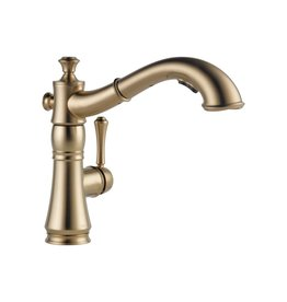 Delta Delta 4197 Cassidy Single Handle Pull Out Kitchen Faucet Champagne Bronze