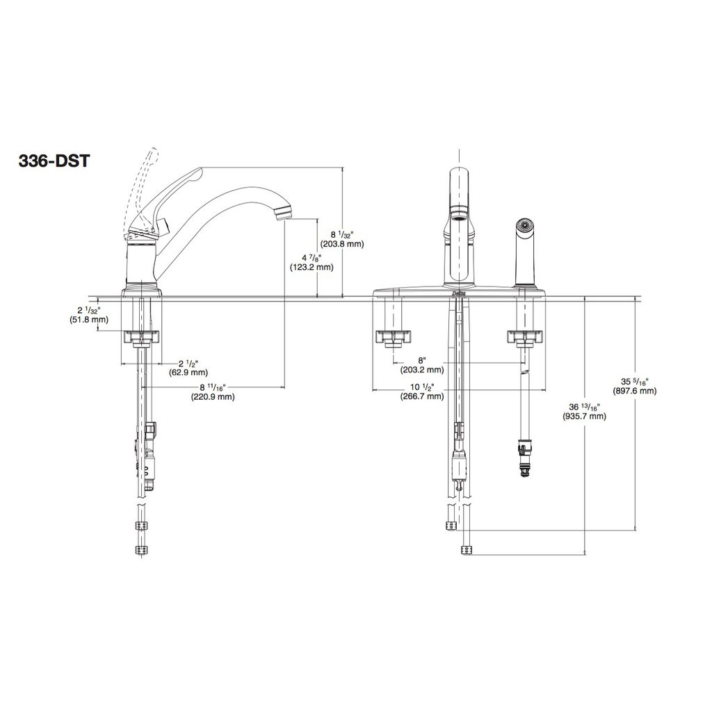 series single com diagram faucet for plumbingwarehouse kitchen delta model handle models parts