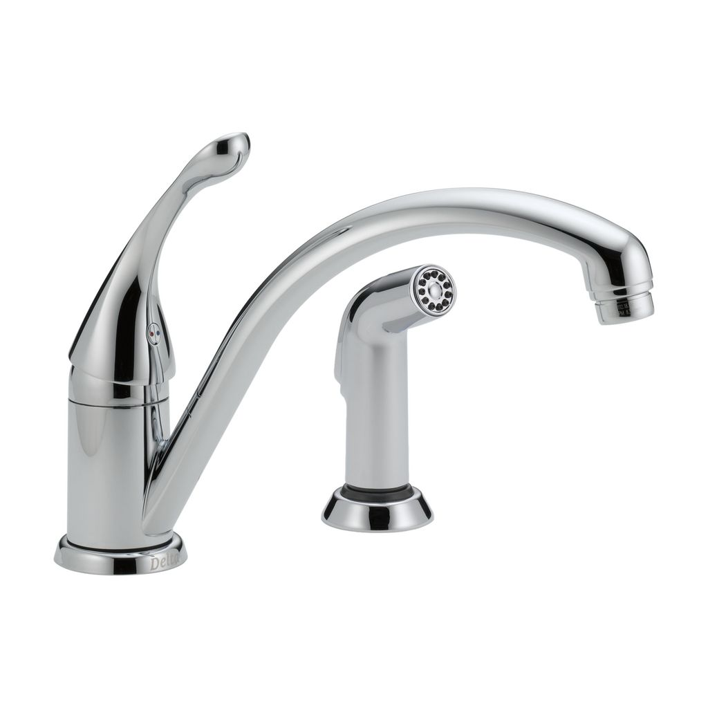 Delta Delta 441 Collins Single Handle Kitchen Faucet With Spray Chrome