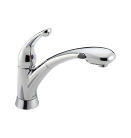 Delta Delta 470 Signature Single Handle Pull Out Kitchen Faucet Chrome