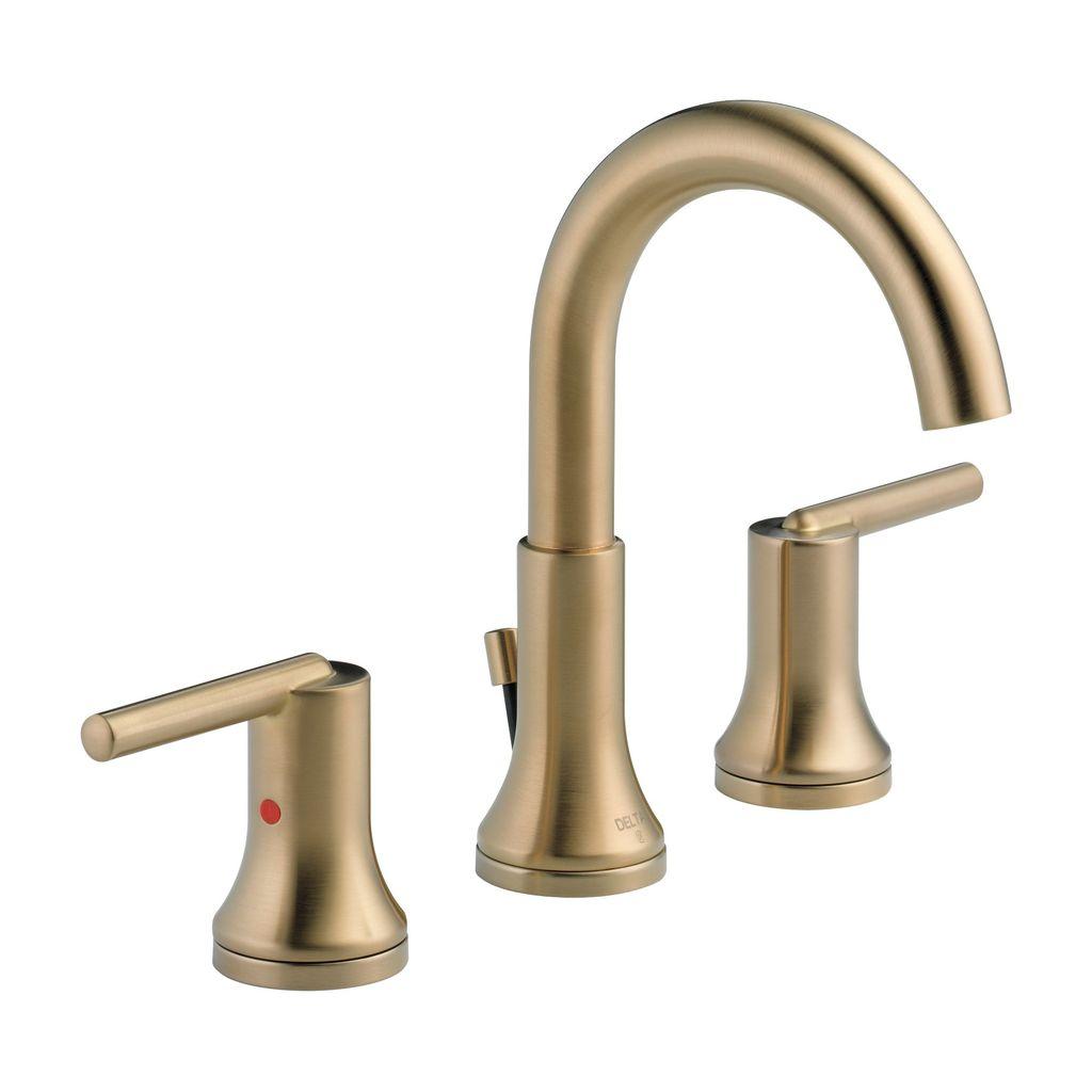 Delta Delta 3559 Trinsic Two Handle Widespread Lavatory Faucet Champagne Bronze