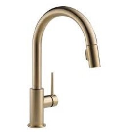 Delta Delta 9159 Trinsic Single Handle Pull Down Kitchen Faucet Champagne Bronze