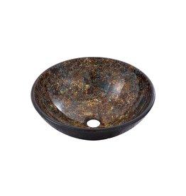 Aquabrass Aquabrass 97051 Round Canyon Bronze Tempered Glass Basin