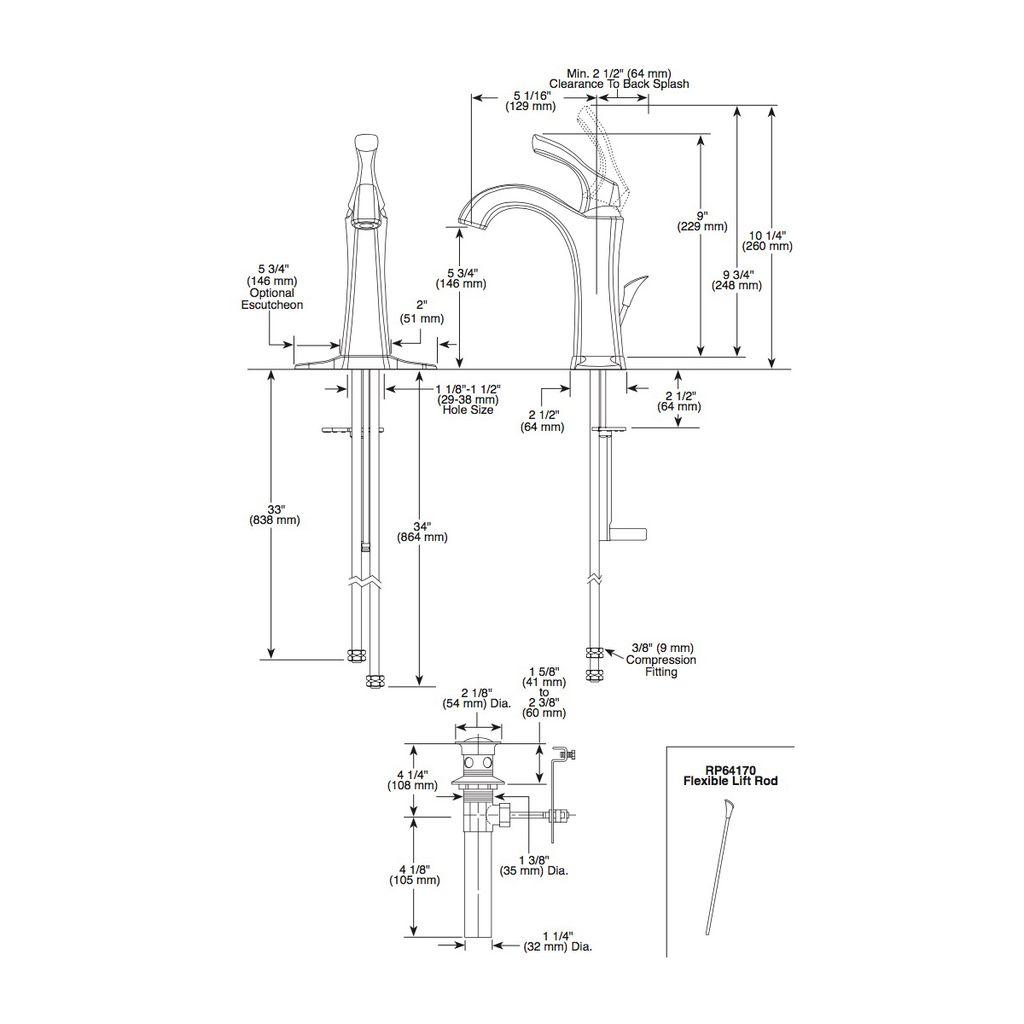 Delta Delta 592 Addison Single Handle Lavatory Faucet Chrome