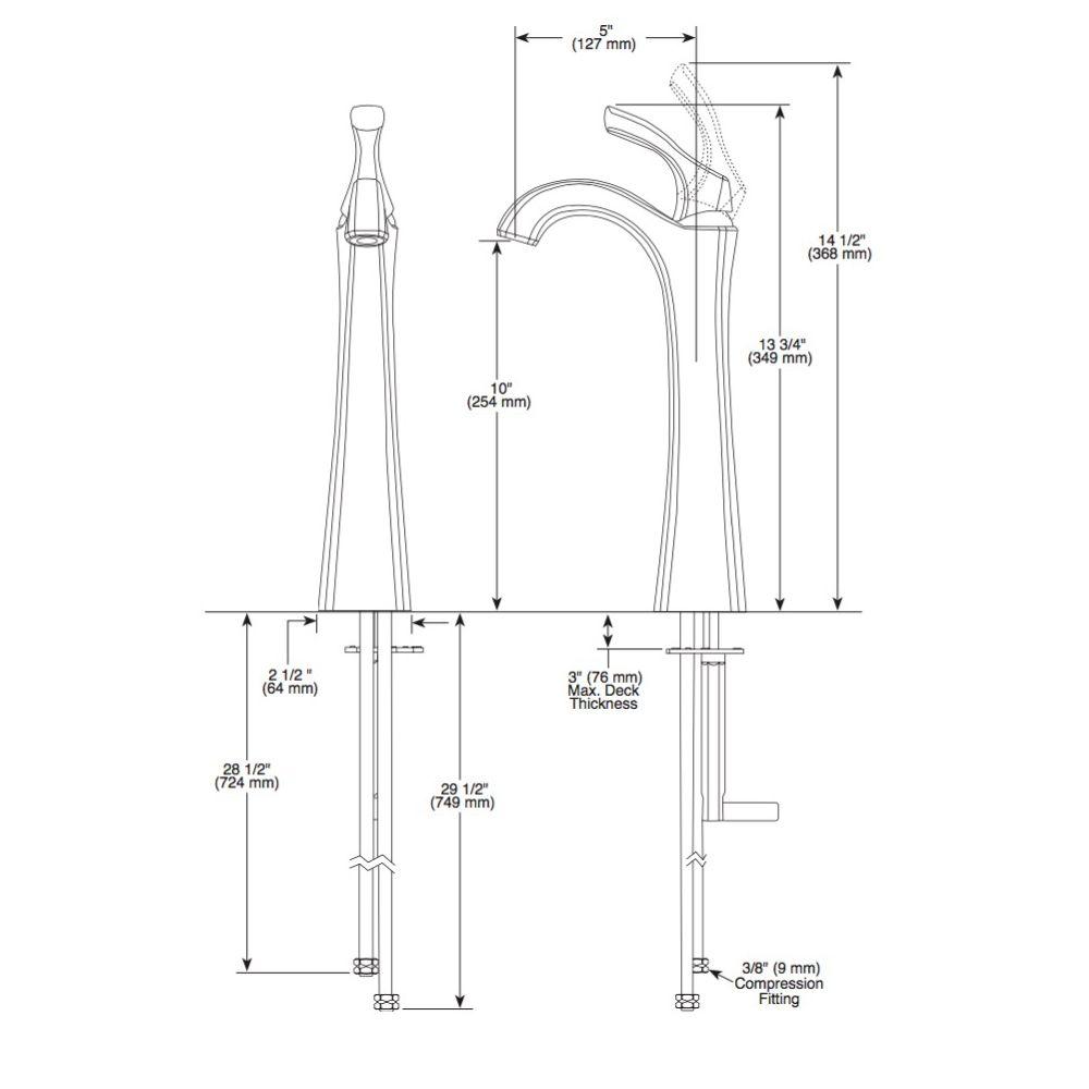 Delta Delta 792 Addison Single Handle Vessel Lavatory Faucet Chrome