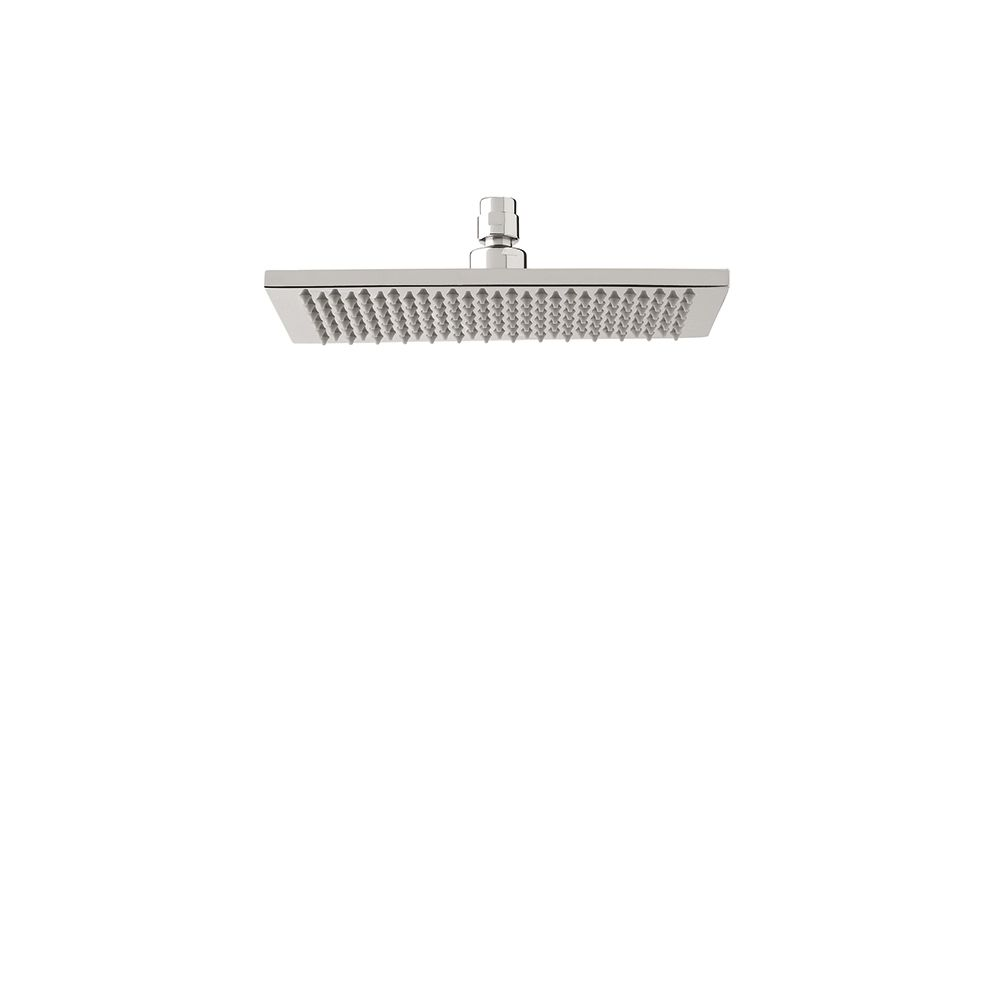Aquabrass Aquabrass 809 6 x 10 Rectangular Rainhead Brushed Nickel