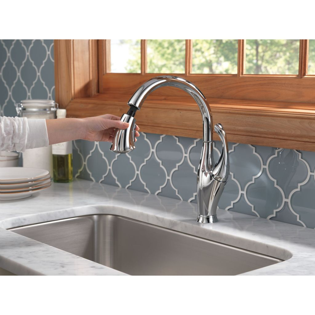 Delta Delta 9192 Addison Single Handle Pull Down Kitchen Faucet Chrome