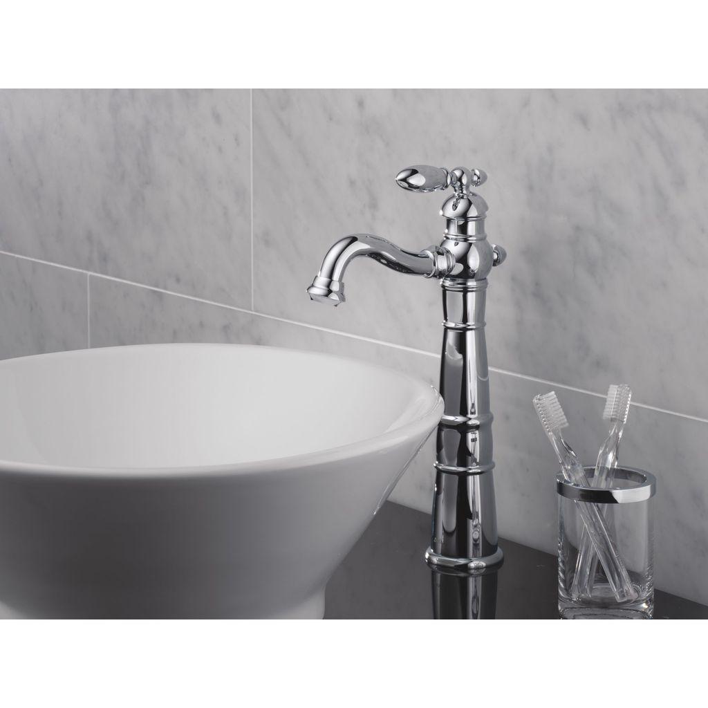 Delta Delta 755LF Victorian Single Handle Vessel Lavatory Faucet Brilliance Stainless