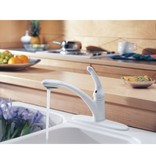 Delta Delta 470 Signature Single Handle Pull Out Kitchen Faucet White