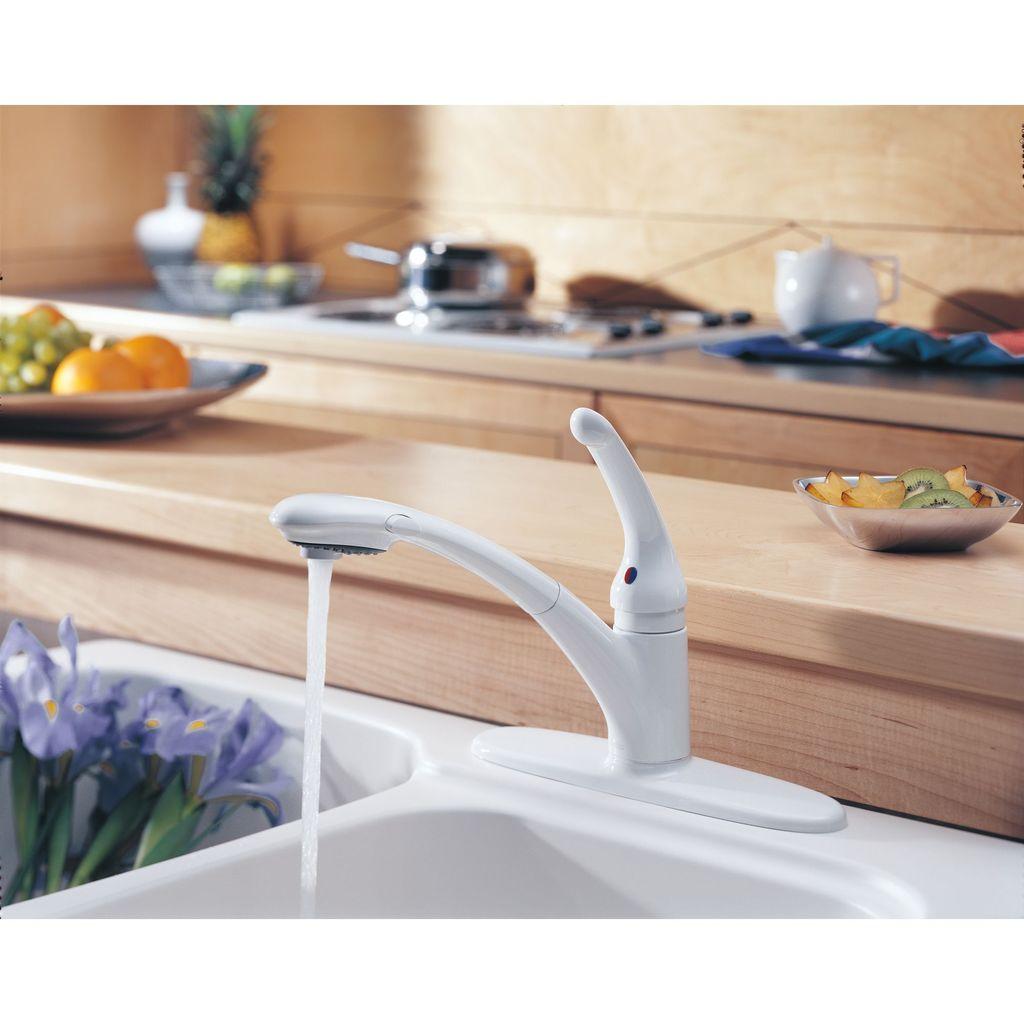 Delta Delta 470 Signature Single Handle Pull Out Kitchen Faucet Matte Black