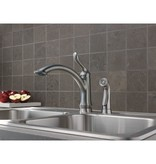 Delta Delta 4453 Linden Single Handle Kitchen Faucet With Spray Arctic Stainless