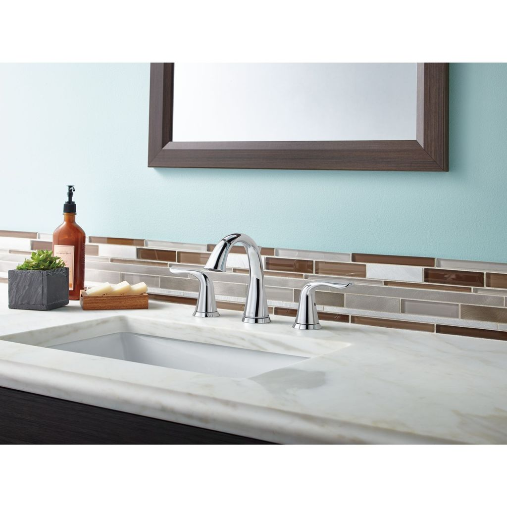 Delta Delta 3538 Lahara Two Handle Widespread Lavatory Faucet Brilliance Stainless
