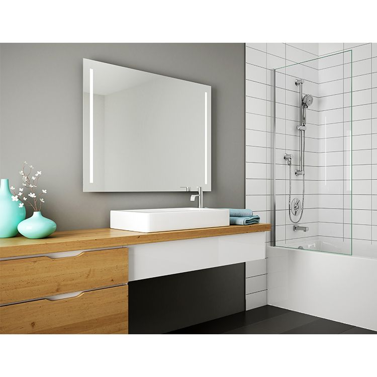 Fleurco msu4236 sunrize 42 x 36 mirror with defogger for Mirror 42 x 36