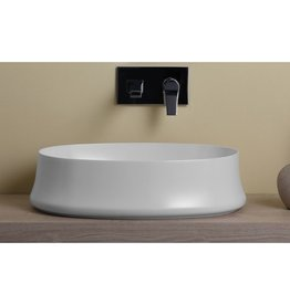 Simas Simas SH04 Sharp 24 Oval Basin White Glossy