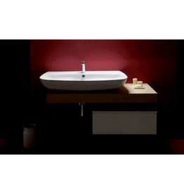 Simas Simas VI12 Vignoni 39 Wash Basin With Single Faucet Hole White Glossy