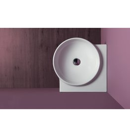 Simas Simas FL24 Flow 18 Corner Wall Hung Wash Basin White Glossy