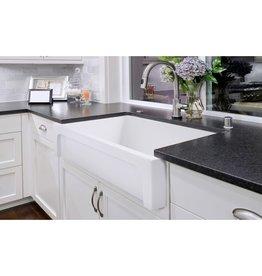Simas Simas Q500 Farmhouse 30 Single Bowl Fireclay Farmhouse Sink White Glossy