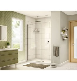 Fleurco Fleurco EST34 Siena Solo Pivot Shower Shield 75 Brushed Nickel