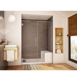 Fleurco Fleurco PLAKP57 Kara Door And Panel For Alessa Shower Base 79 Brushed Nickel
