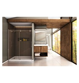 SLIK Slik MTX-60 Matrix Alcove Shower Door 60 Large Clear Glass Stainless Steel