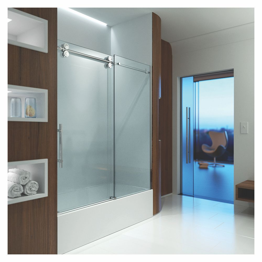 Slik MTX-60T 60 Matrix Tub Shower Door Clear Glass Chrome - Home ...