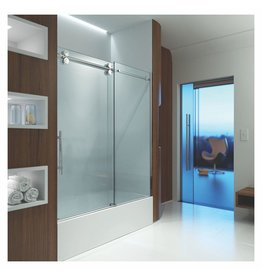 SLIK Slik MTX-60T 60 Matrix Tub Shower Door Clear Glass Stainless Steel
