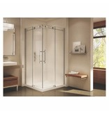 SLIK Slik MTX-4040 40 Matrix Square Shower Door Polished Chrome