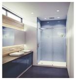 SLIK Slik FLOW-60 60 Flow Alcove Shower Door Frosted Glass Chrome