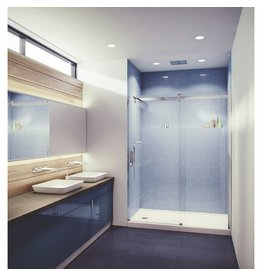 SLIK Slik FLOW-60 60 Flow Alcove Shower Door Frosted Glass Chrome