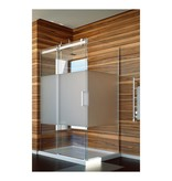 SLIK Slik FLOW-4834 48 Flow Corner Shower Door Frosted Glass Chrome
