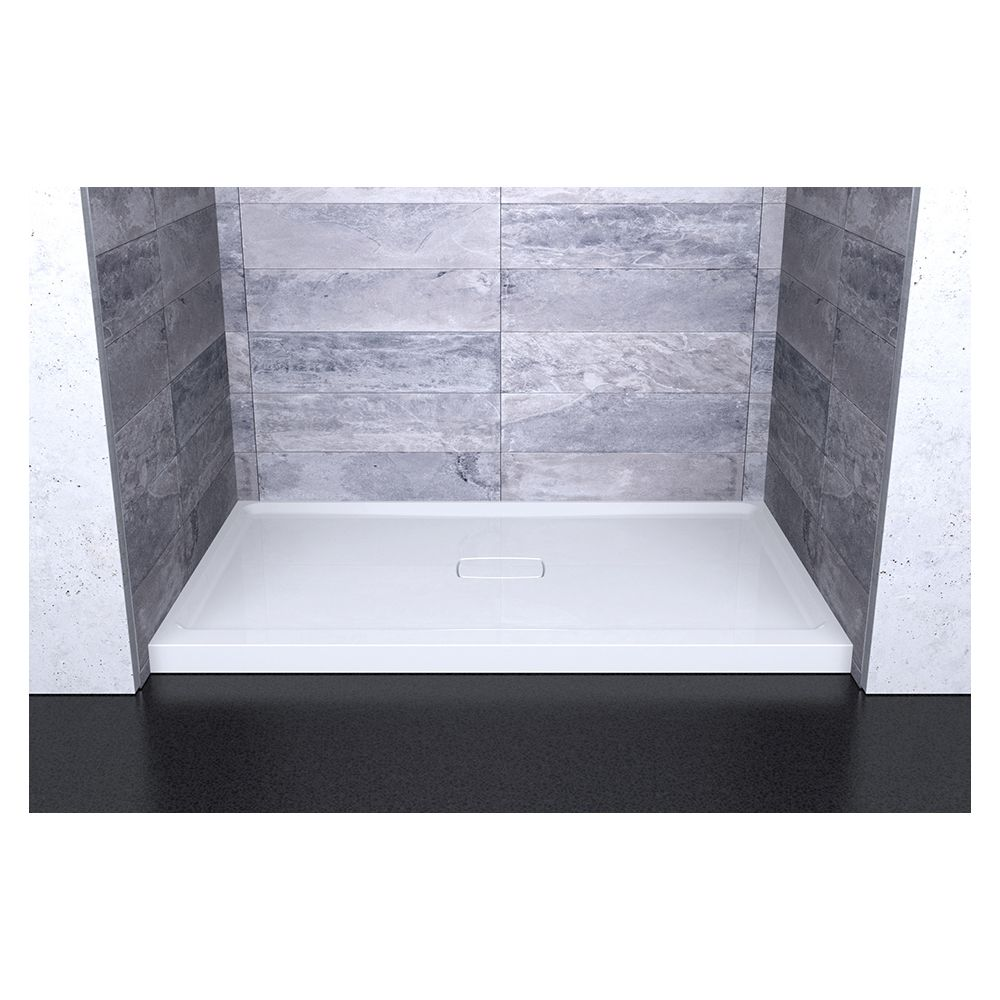 SLIK Slik A48SB36 Soho 48 Acrylic Shower Base With Center Drain White