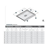 SLIK Slik A60SB32 Soho 60 Acrylic Shower Base With Center Drain White
