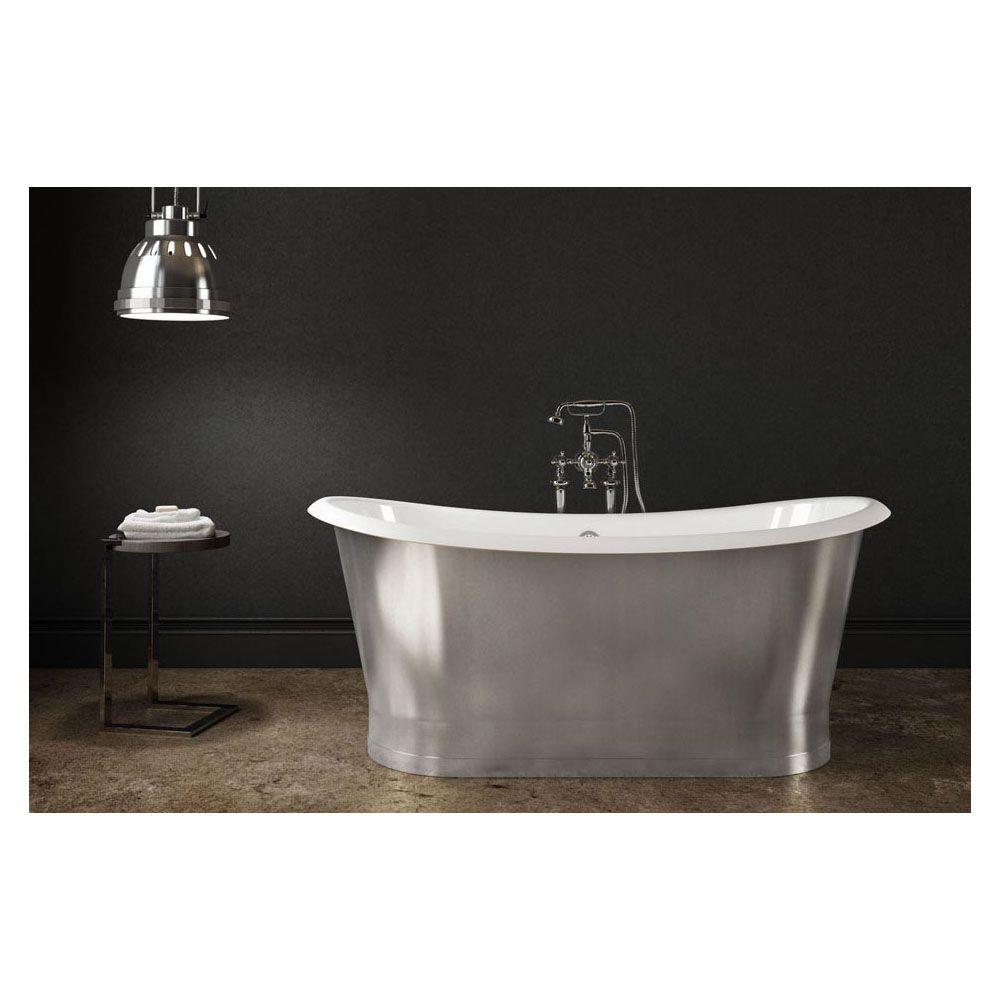 Slik CI6832 Cast Iron Freestanding Bathtub Stainless Steel - Home ...