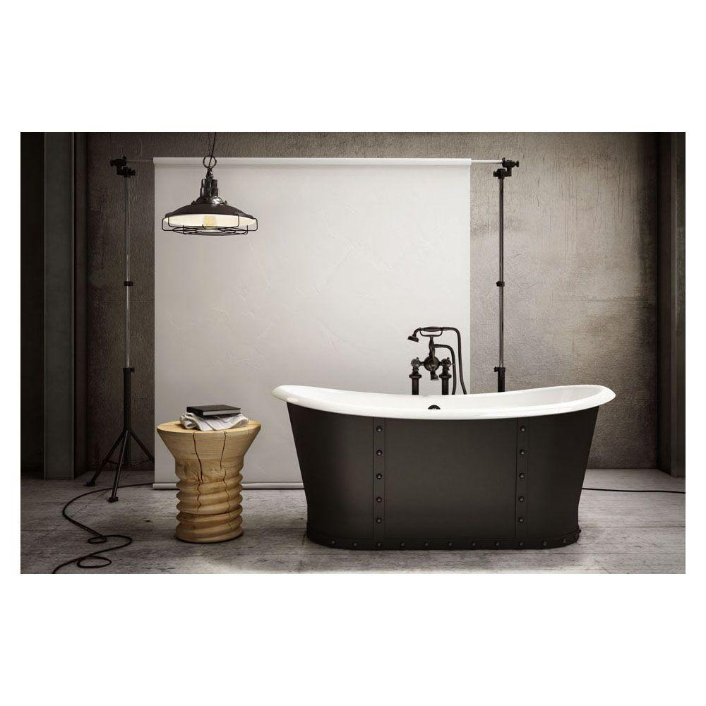 Slik CI6832 Cast Iron Freestanding Bathtub Matte Black - Home ...