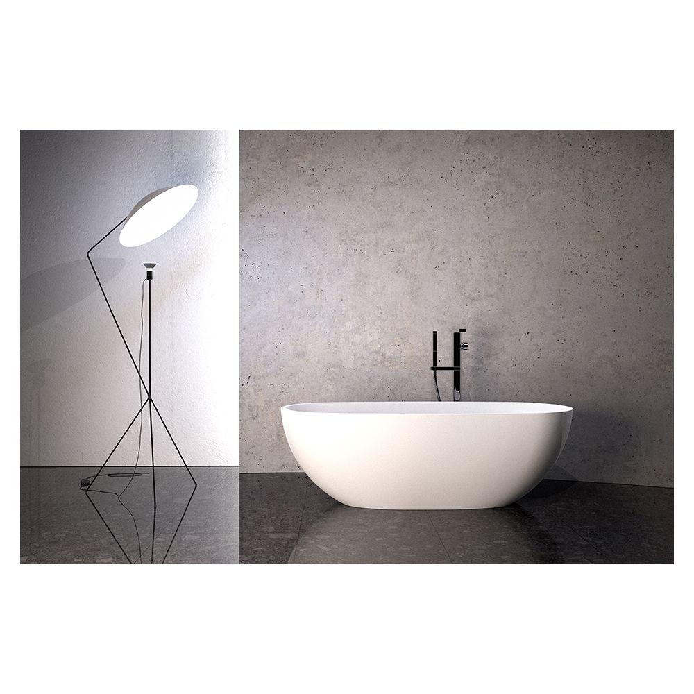 Slik ST6130 Logan 60 Stone Freestanding Bathtub Matte White - Home ...