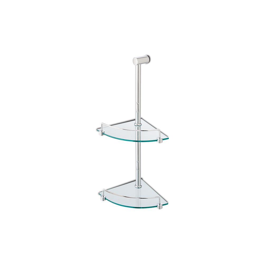Slik 120103YT Double Corner Glass Shelf Chrome - Home Comfort Centre