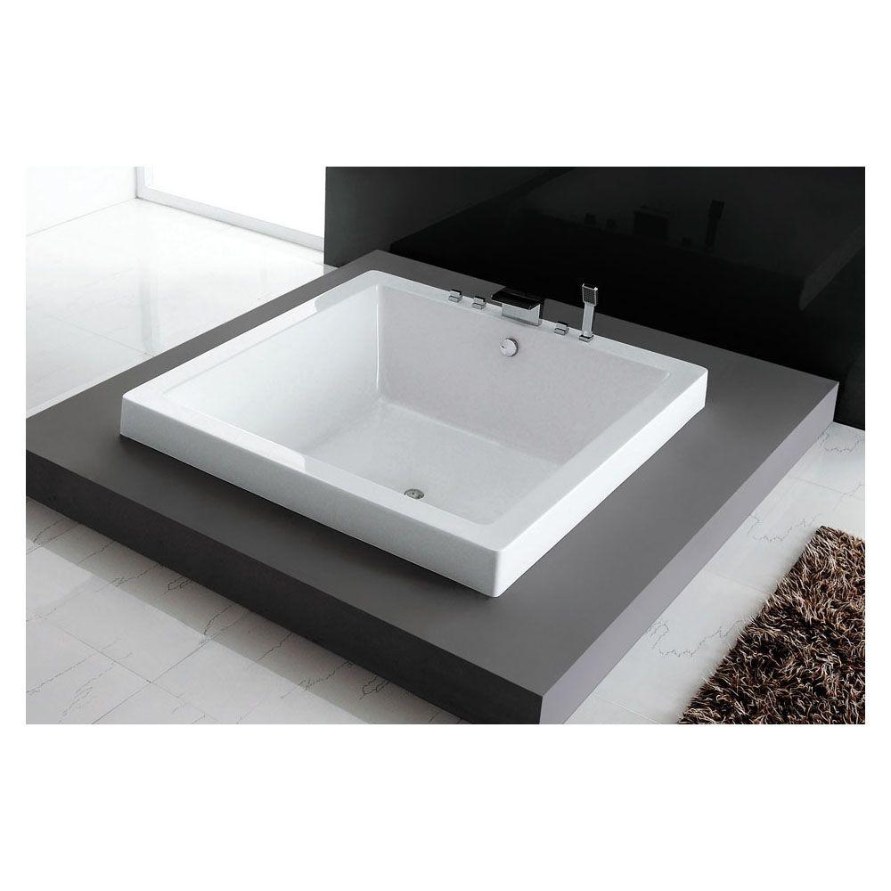 Slik 63DI63 Zenso Square 63 Acrylic Drop-In Bathtub White - Home ...