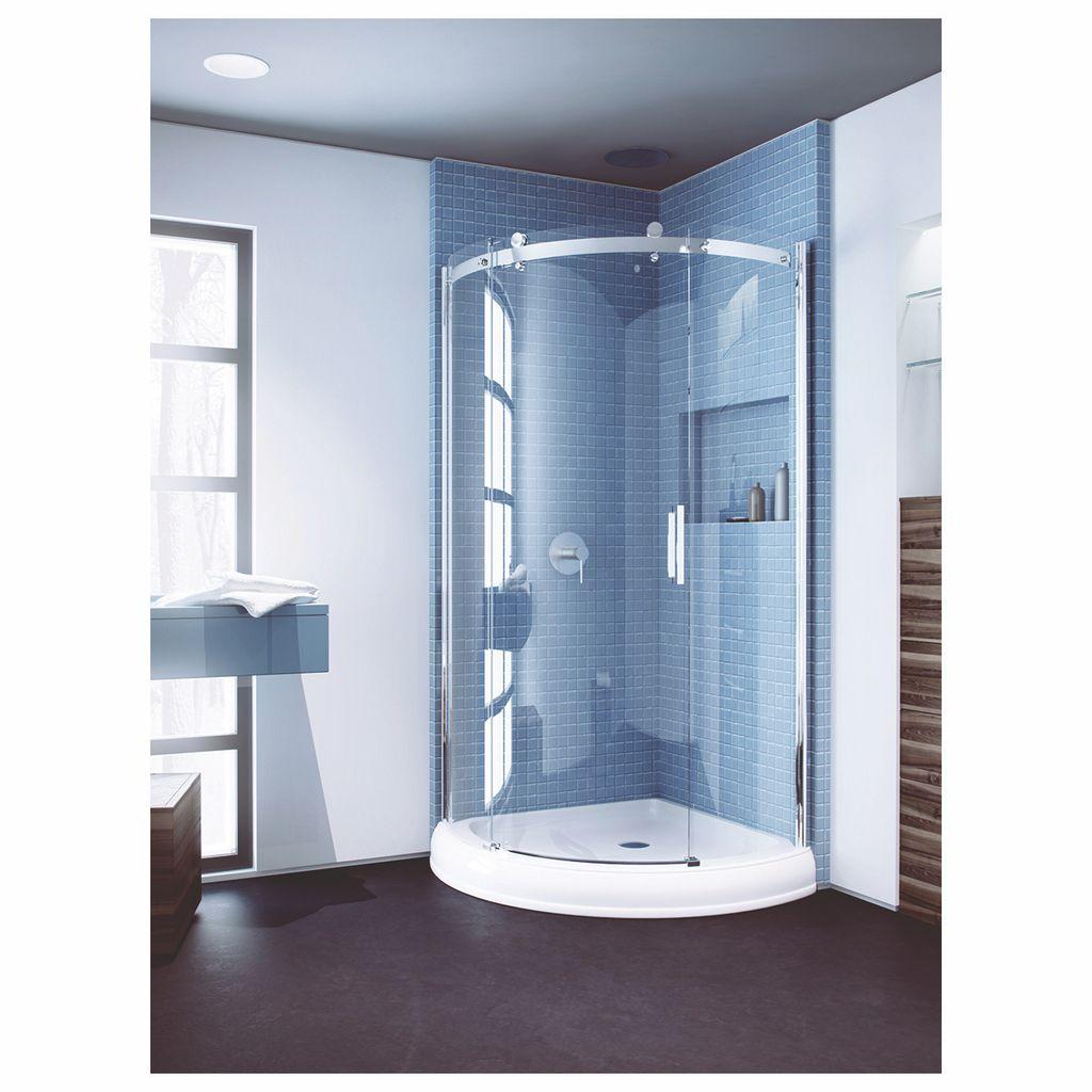 Slik Flow 36 36 Flow Round Shower Door Clear Glass Chrome Home