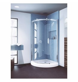 SLIK Slik FLOW-36 36 Flow Round Shower Door Left Clear Glass Chrome