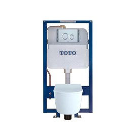 Toto TOTO CWT447247CMFG RP Wall Hung Toilet In Wall Tank System Matte Silver