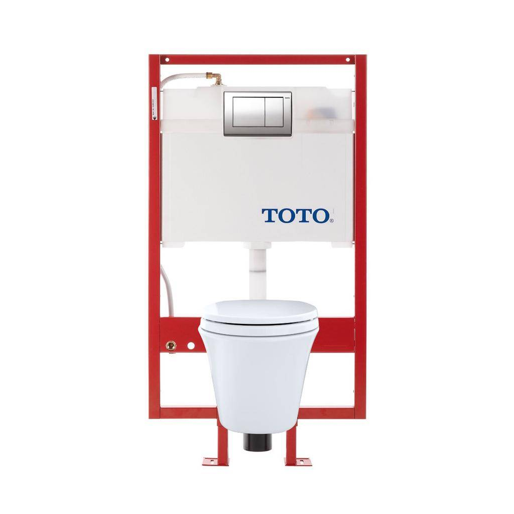 Toto TOTO CWT486MFG Maris Wall Hung Toilet DUOFIT In Wall Tank System White