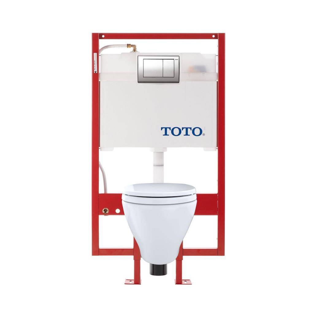 Toto TOTO CWT418MFG Aquia Wall Hung Elongated Toilet DUOFIT In Wall Tank System White