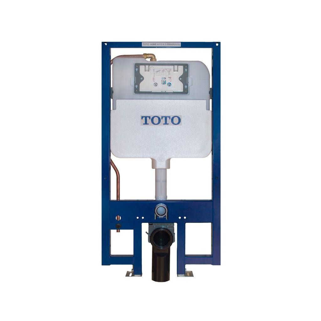 Toto TOTO WT172M Duofit In Wall Tank System 1.28 GPF .09 GPF Copper Supply Cotton